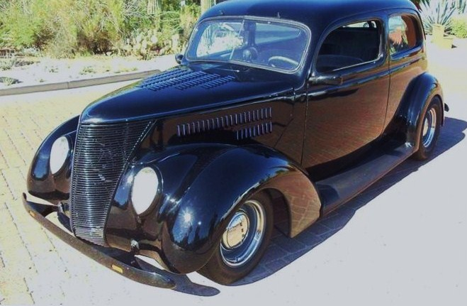 The 1937 Ford Tudor custom slantback was built to be driven, the seller states