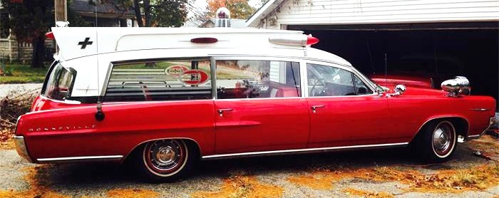 The rare Pontiac ambulance could be a museum piece or service-vehicle collectable.
