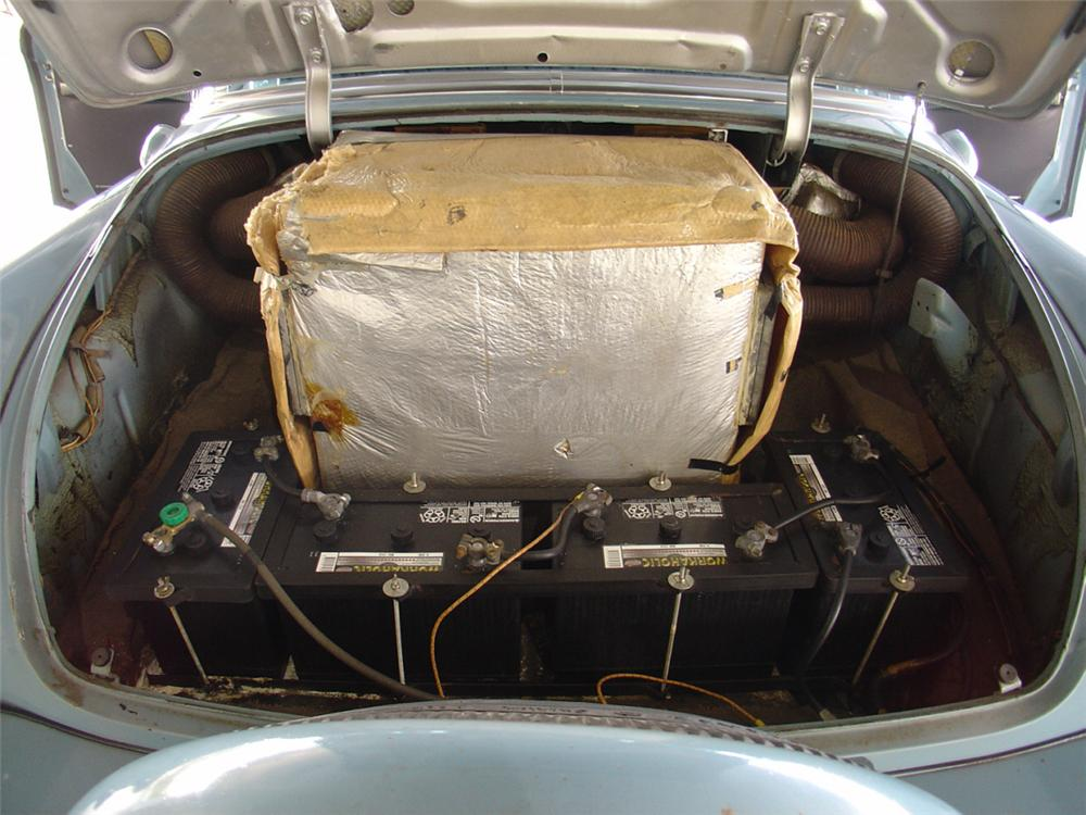 Huges installed a special air conditioning and filtration system in the trunk