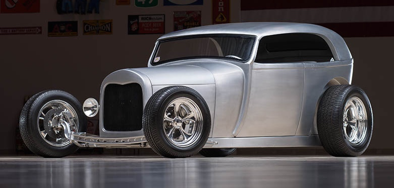 Aluminum-bodied hot rod was built on Coddington's TV show