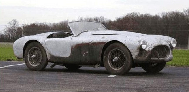 A 1960 AC Bristol roadster in 'barn-find' condition was a top sale at auction | Auctions America