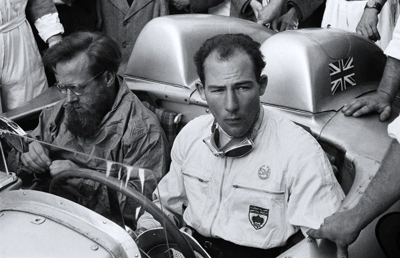 Driver Stirling Moss and navigator Denis Jenkinson during the 1955 Mille Miglia | Mercedes-Benz archive