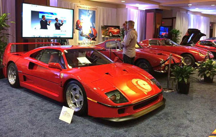 Exotic cars shown in the hotel before Rick Cole's all-onlne auction | Rick Cole Auctions