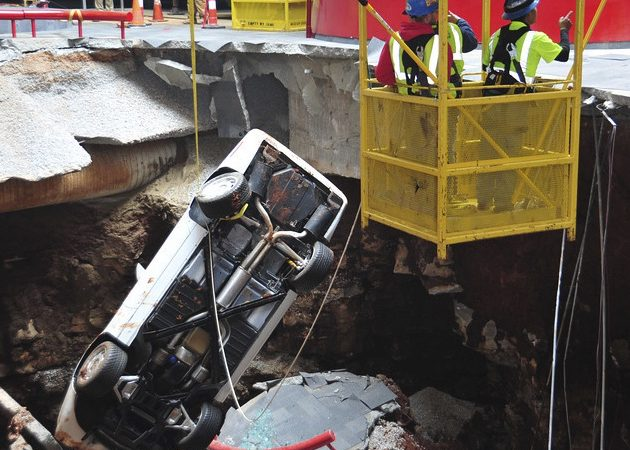 2014 top stories: No. 2 — Sinkhole swallows museum's Corvettes