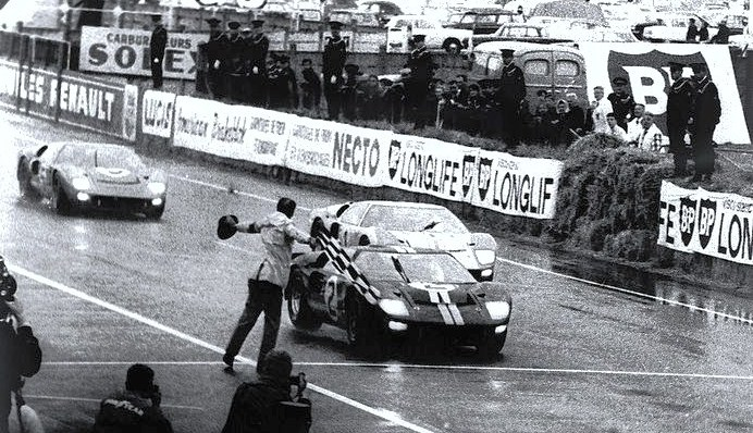The Ford GT40 wins Le Mans in 1966 followed by two other GT40s | Ford archive