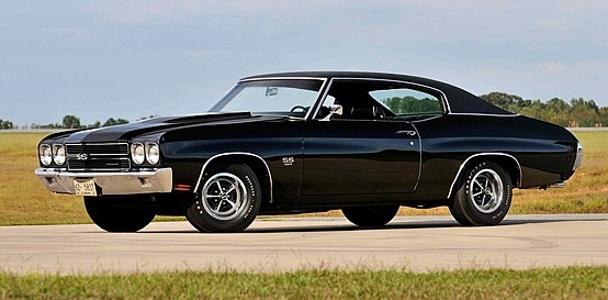 A rare all-black 1970 Chevelle LS6 SS | Mecum Auctions