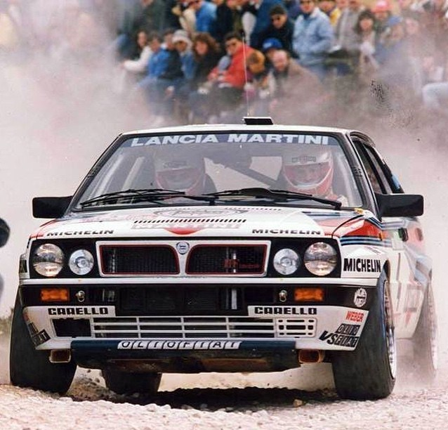 The 1988 Lancia Delta Integrale racing in Portugal