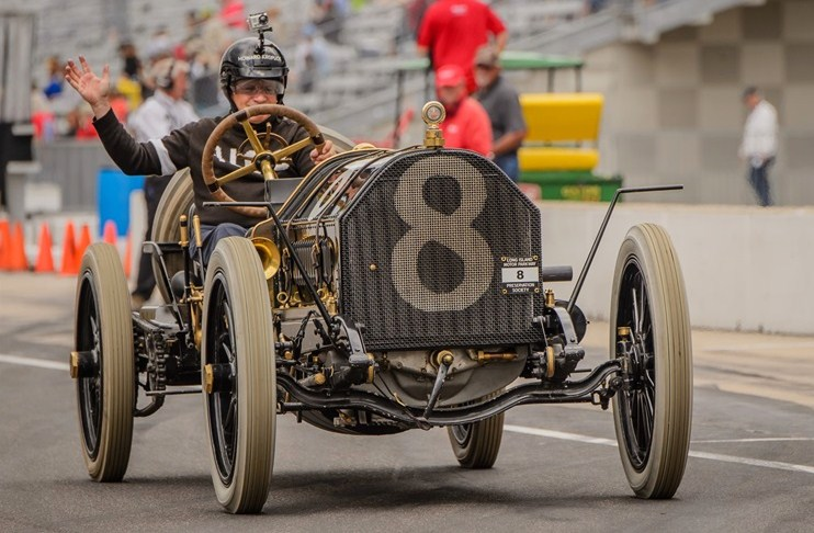 An old timer runs on the track at Indy | Indianapolis Motor Speedway