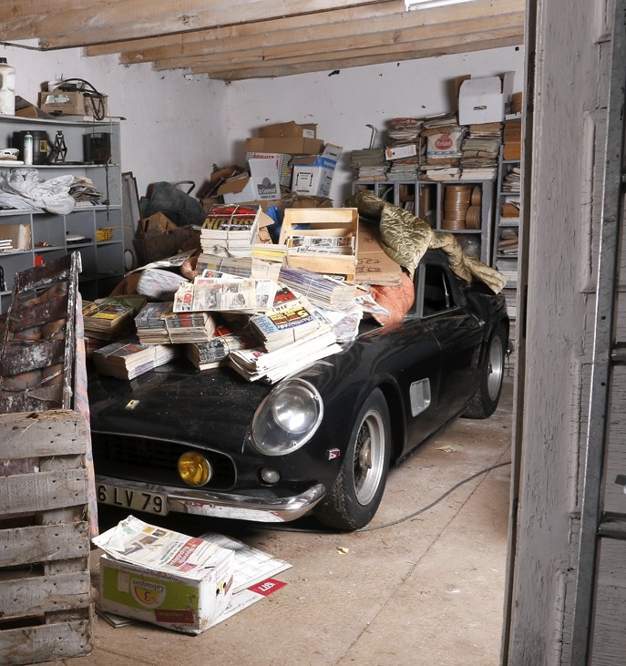 barn found cars draw huge crowd record bids to artcurial s