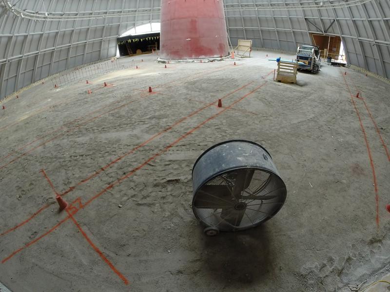 The floor in the Sinkhole has been restored