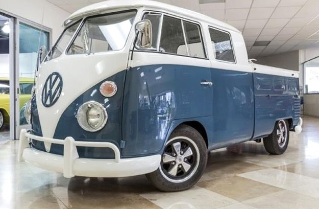 The Volkswagen double-cab pickup truck is a variation of the microbus