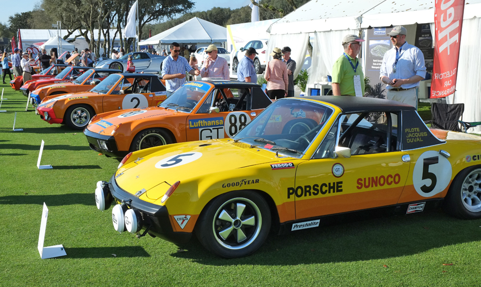 Porsche 914 was a featured class at the Amelia Island concours | Andy Reid photos