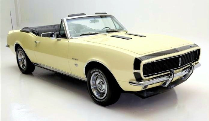The 1967 Chevy Camaro convertible is a highly optioned RS model
