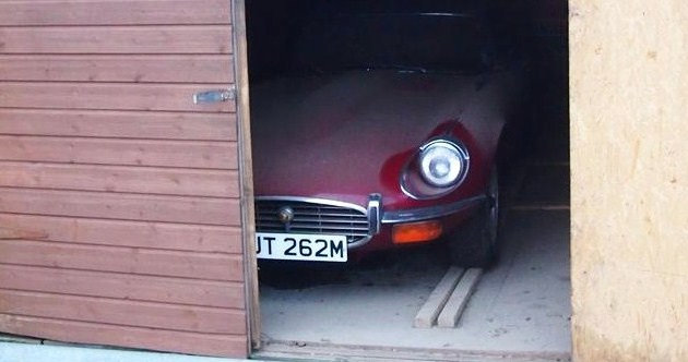 Low-mileage 'barn find' Jaguar E-Type headed to auction