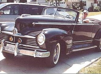My Classic Car: Harold's 1947 Hudson Commodore 8 convertible
