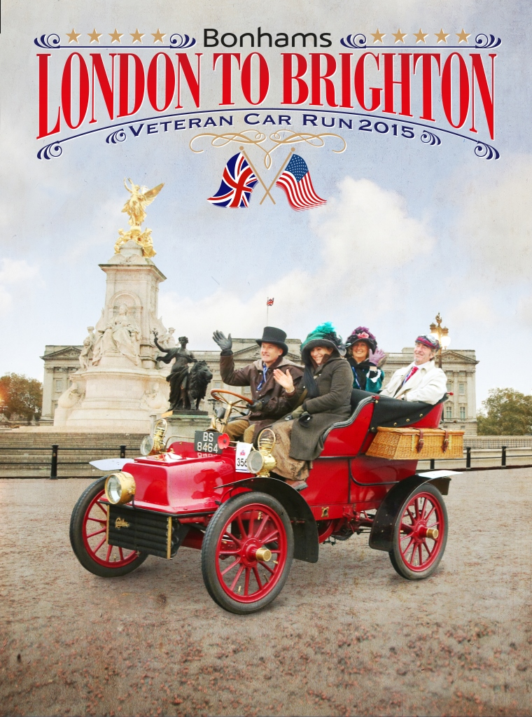 1904 Cadillac is featured on 2015 London-to-Brighton rally poster | Photos courtesy rally organizers