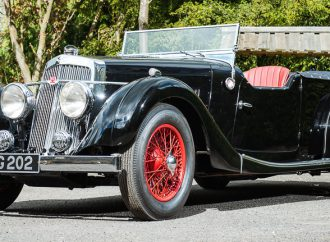 Early Aston Martin luxury four-seater offered at Silverstone sale