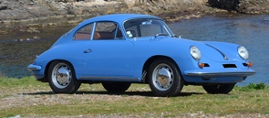 Porsche 356 in French blue colors