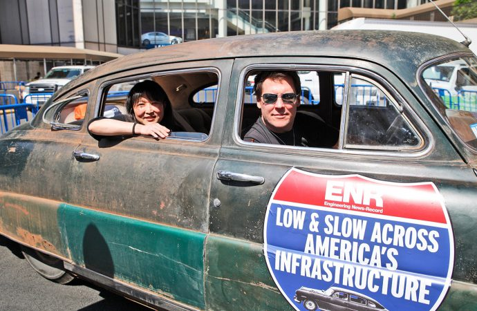 Classic '49 Hudson going 'low and slow' to study health of U.S. highways