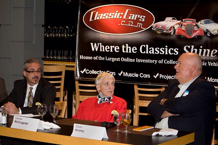 Denise takes part in ClassicCars.com-sponsored panel | Phoenix Automotive Press Association photo by Randall Bohl