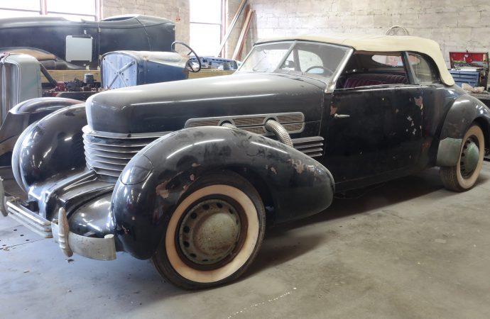 Glenn Pray's barn-found '37 Cord going to auction