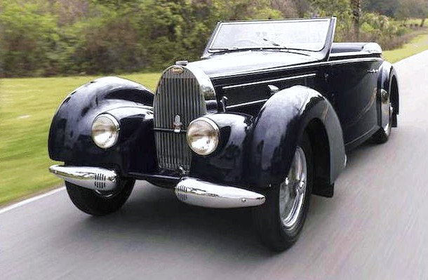The Bugatti Type 57C wears lovely cabriolet coachwork by Gangloff | Bonhams