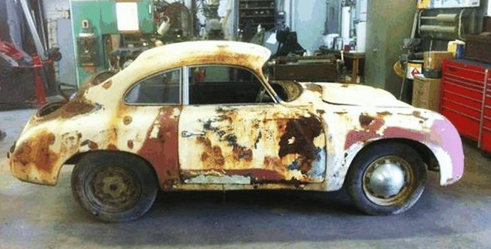 A battered coupe that's been nicknamed 'Cheese Cloth'