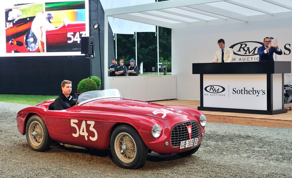 1952 Ferrari 212 Export Barchetta drives across the bidding block
