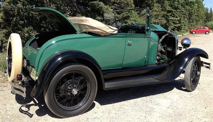 1929 Ford Model A roadster is located in Calgary, Alberta, Canada