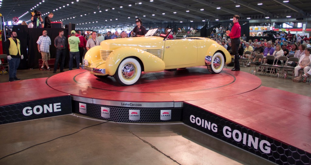 1937 Cord sold to benefit ELK Charity Challenge | Leake Auction Co. photos