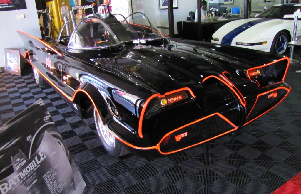 The Batmobile on display in the Barrett-Jackson Collection Showroom | Bob Golfen