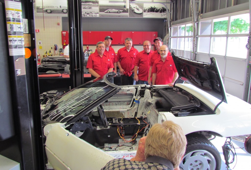 The 1 Millionths Corvette and part of the team that's restoring it | Larry Edsall photos