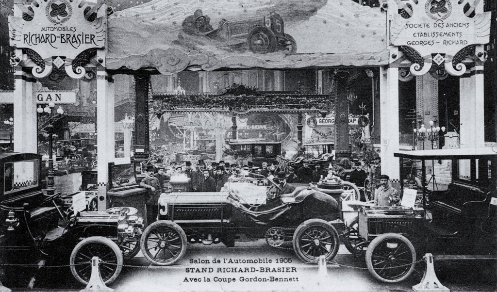 The Richard-Brasier race car was shown at the 1905 Paris Salon | Courtesy of the author