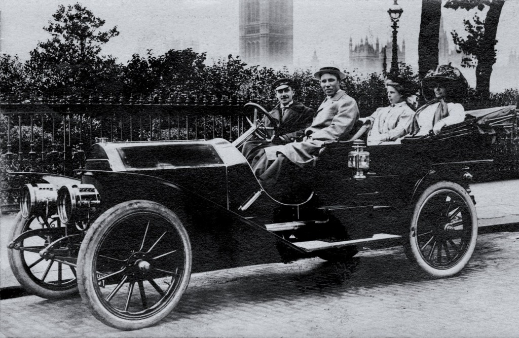 The Stoddard-Dayton touring car was photographed in London | Courtesy of the author