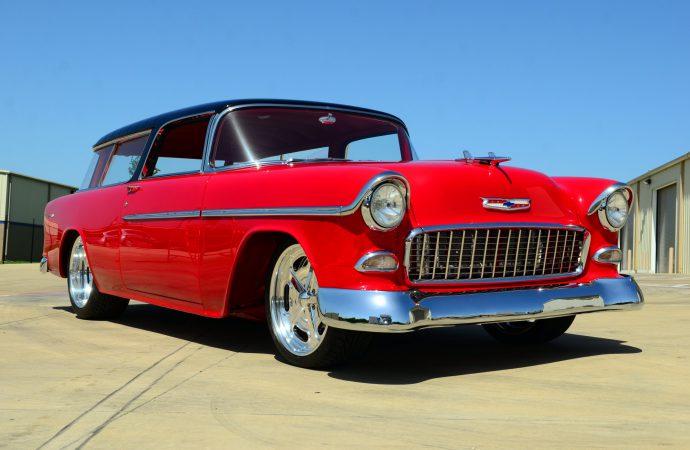 Countdown to Barrett-Jackson Reno: 1955 Chevrolet custom wagon