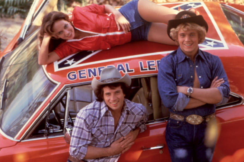 No Merchandising. Editorial Use Only. No Book Cover Usage.The Dukes Of Hazzard , Catherine Bach, Tom Wopat, John Schneider Film and Television (Rex Features via AP Images)