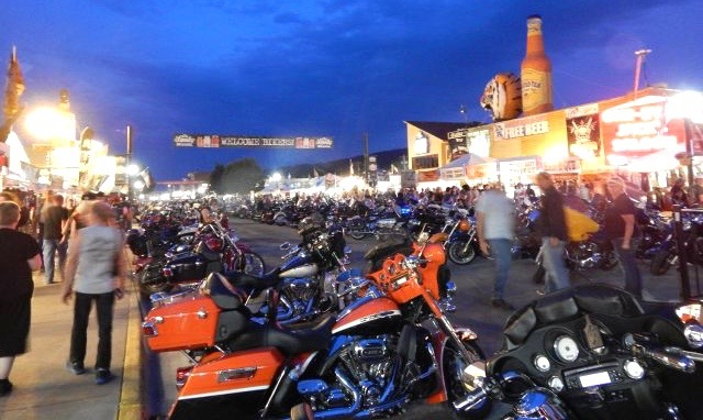 Main Street during the motorcycle rally | Photos courtesy Sturgis Motorcycle Rally