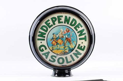 Independent Gasoline gas pump globe.