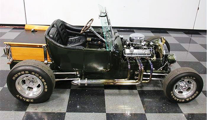 The hot rod was built from a Model T pickup truck