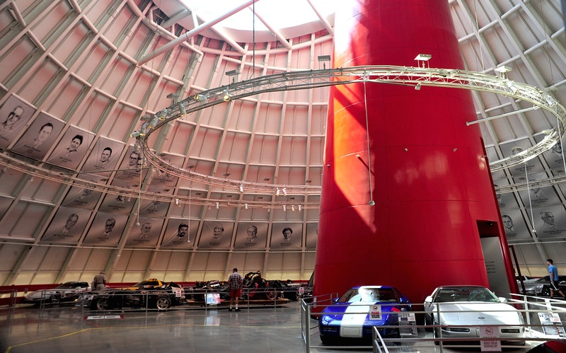 Sinkhole repaired. Cars back on display. Skydome to re-open Thursday   National Corvette Museum photos