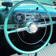 Steering wheel at Pacific Grove Concours
