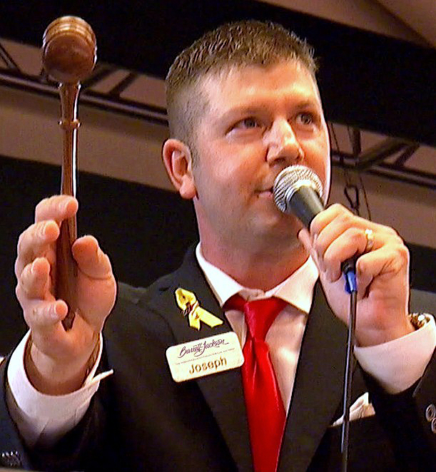 Young champion auctioneer Joseph Mast will lead Barrett-Jackson bidding starting with the Reno sale | Barrett-Jackson
