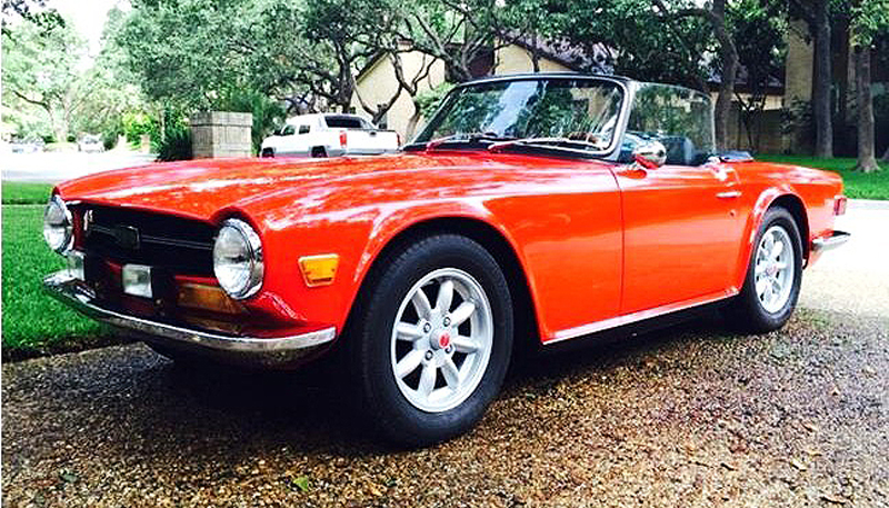 Triumph TR6 is considered the final edition of the great British sports cars