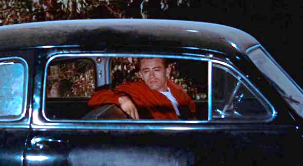 James Dean glowers from his custom 1949 Mercury in 'Rebel Without a Cause' | Warner Bros.