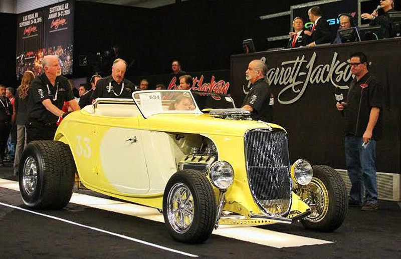 A custom hot rod during its sale this year at Barrett-Jackson's auction in Reno | Mathew Fink photos