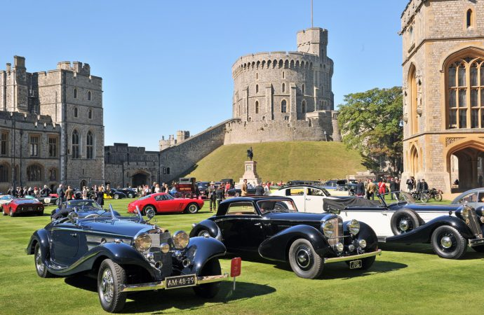 Windsor Castle gets 'Royal' concours for queen's celebration