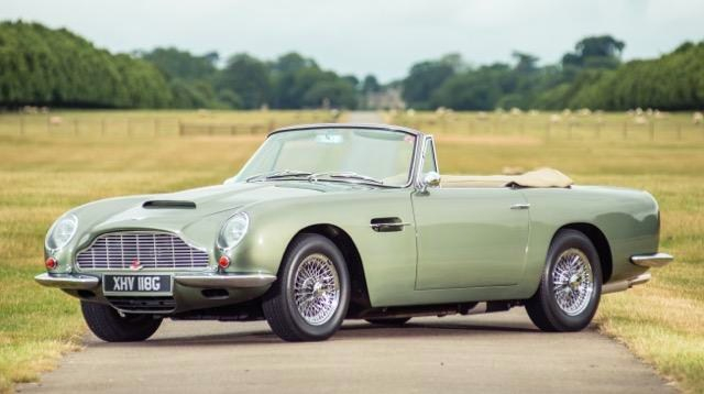 This 1968 Aston Martin DB6 Vantage Volante recently sold for nearly $1.4 million | Silverstone Auctions
