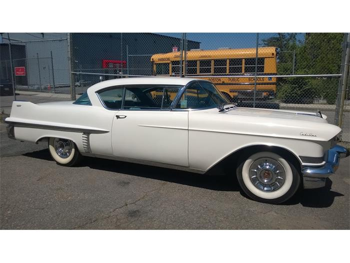 Asking price is $23,995 for this 1957 Cadillac coupe