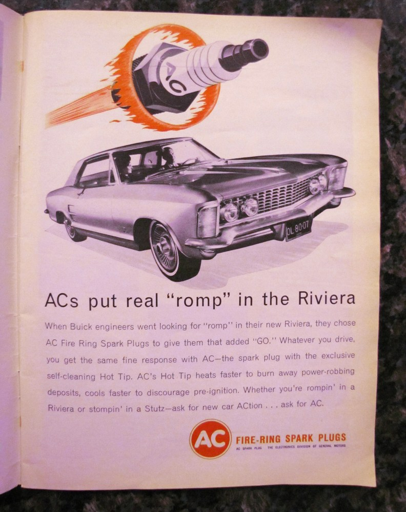 AC spark plugs used the new Riviera for its advertisement