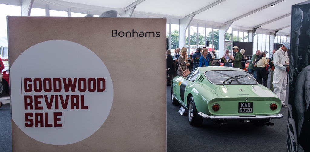 Bonhams' Goodwood Revival auction scene | Dirk de Jager photo